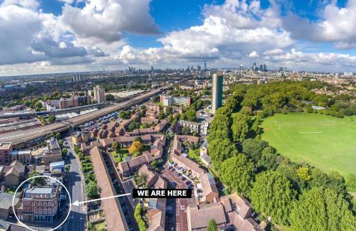 Vue panoramique sur l'établissement London Stay Apartments