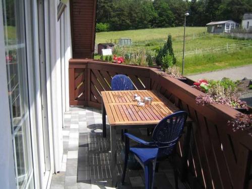 Ein Balkon oder eine Terrasse in der Unterkunft Ferienwohnung Haus Andre - für 4 Personen