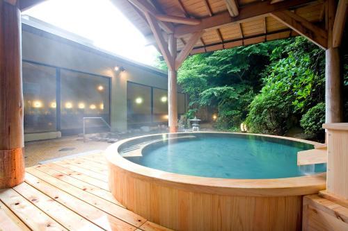 The swimming pool at or near Yumoto Fujiya Hotel