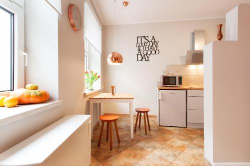 Kuchnia lub aneks kuchenny w obiekcie Mona Lisa Apartments - Kazimierz District
