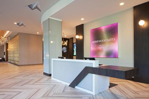 A television and/or entertainment center at Homewood Suites By Hilton Los Angeles International Airport