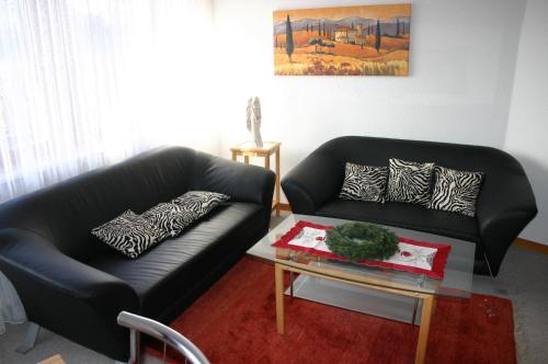 Ein Sitzbereich in der Unterkunft Ferienwohnung Sophie