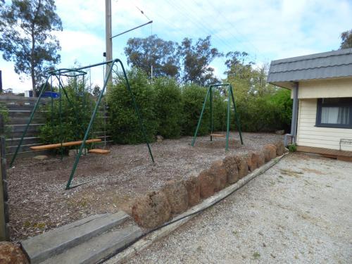 Children's play area at Calder Family Motel
