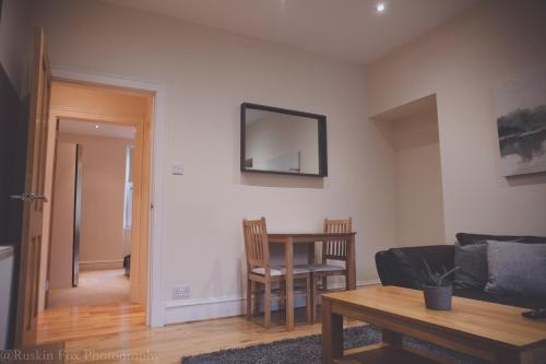 A television and/or entertainment center at Apartment D