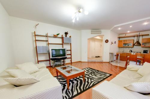 Гостиная зона в RentPiter Nevskiy 54 big apart
