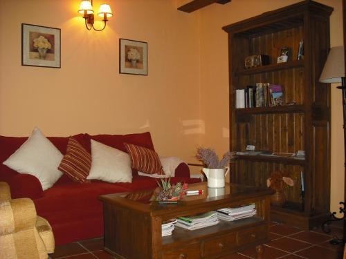 A seating area at Casa de Oria