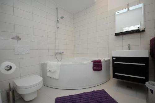 A bathroom at Family friendly house with a swimming pool Mlini, Dubrovnik - 12828