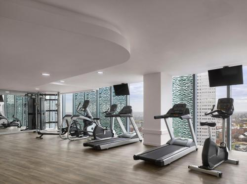 The fitness center and/or fitness facilities at Radisson Blu Hotel, Birmingham