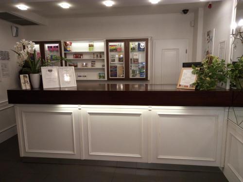 The lobby or reception area at Zamecky Hotel Lednice