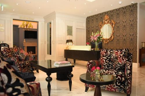 The lobby or reception area at The Fairview Boutique Hotel