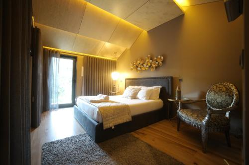 A bed or beds in a room at Rio Moment's