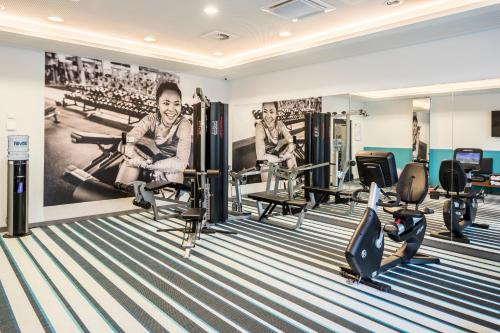 The fitness centre and/or fitness facilities at Capri by Fraser, Frankfurt