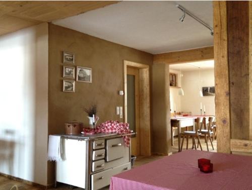 Küche/Küchenzeile in der Unterkunft Fehrenbacherhof Naturgästehaus