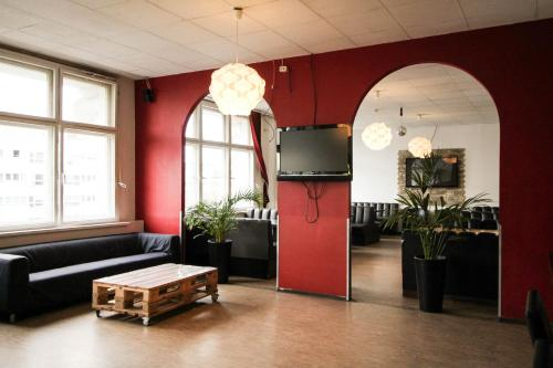 The lobby or reception area at Metropol Hostel Berlin
