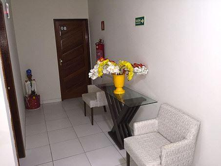 A seating area at Pousada Delícias do Mar