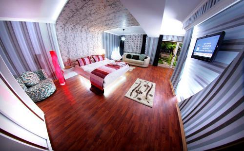 Ein Sitzbereich in der Unterkunft Rental House Ankara