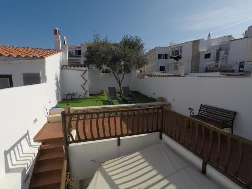 A balcony or terrace at Hotel Es Mercadal