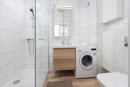 Łazienka w obiekcie Rybacka Apartament