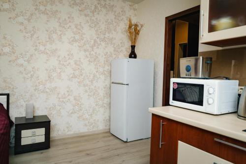 Кухня или мини-кухня в Na Frunzenskoy Apartment