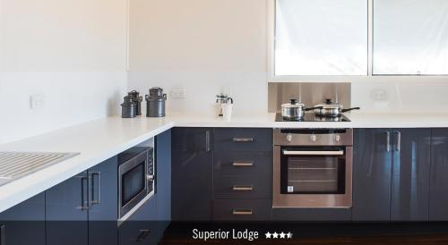 A kitchen or kitchenette at Saltbush Retreat