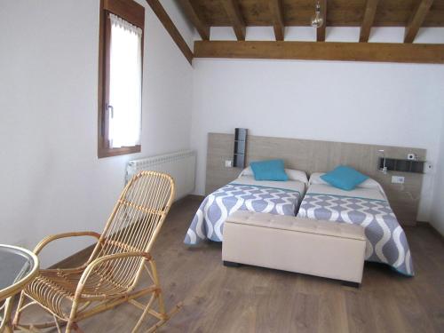Cama ou camas em um quarto em La Fragua de Etayo