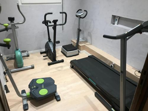 The fitness center and/or fitness facilities at Domaine de Hurlevent