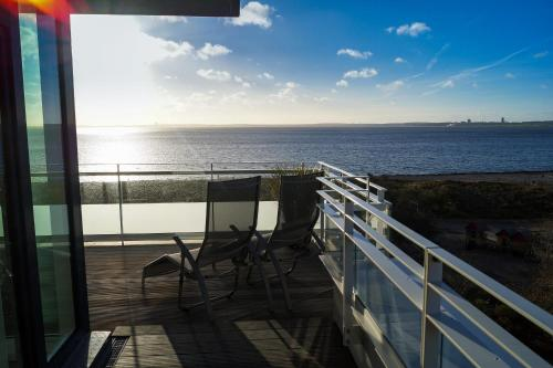 A balcony or terrace at Südkap H-08
