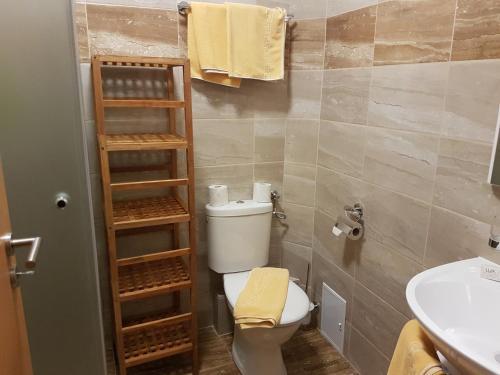 A bathroom at Hotel Berghof Tauplitzalm