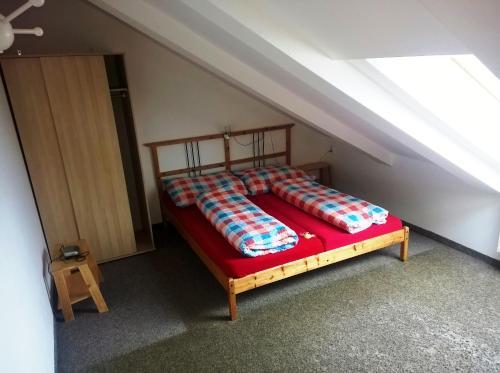 Postel nebo postele na pokoji v ubytování Pension Čáda