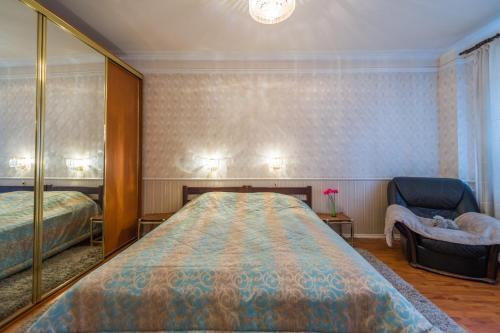 Кровать или кровати в номере Tverskaya-Mayakovskaya