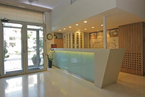 The lobby or reception area at Athinaiko Hotel