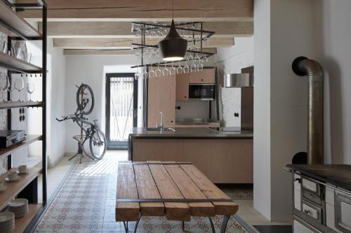 Kuchyň nebo kuchyňský kout v ubytování Stajnhaus