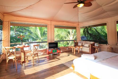A seating area at Hotel Tropico Latino
