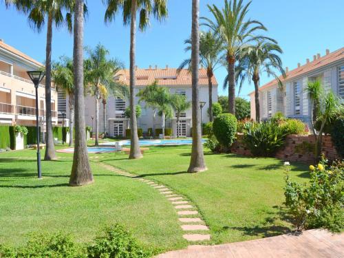 Jardín al aire libre en Apartamento Golden Gardens