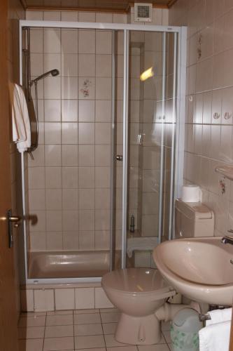 Ein Badezimmer in der Unterkunft Hotel Ristorante Ätna