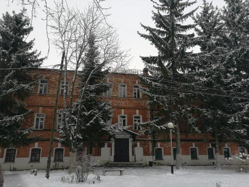 Гостиница Ризоположенская зимой