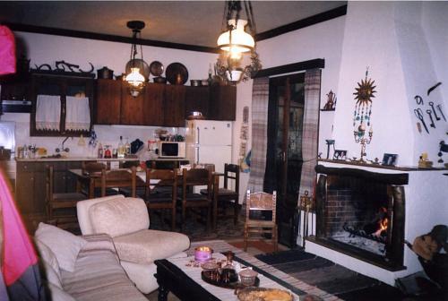 A kitchen or kitchenette at Kosmas Studios
