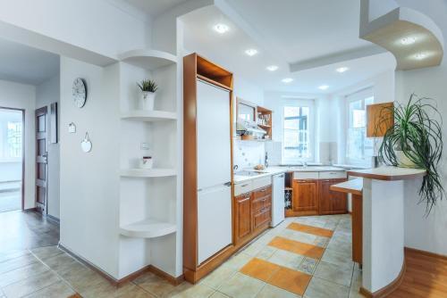 Kuchnia lub aneks kuchenny w obiekcie Apartament na starowce