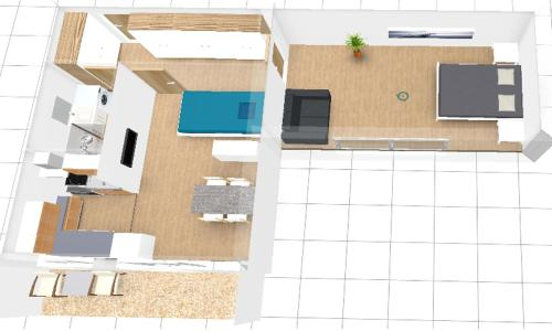 The floor plan of Sopot Apartament
