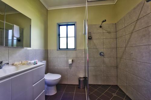 A bathroom at Daintree Peaks ECO Stays
