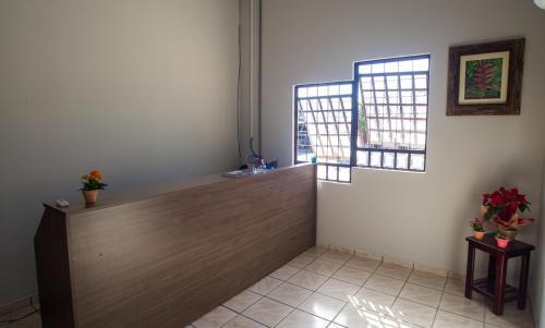 The lobby or reception area at Joy House Pousada