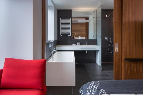 A kitchen or kitchenette at ION City Hotel