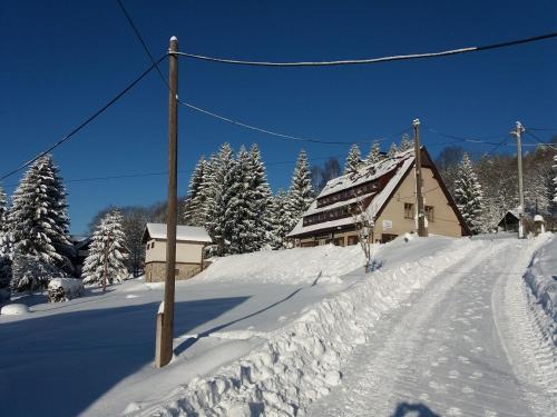 Penzion pod Severákem v zimě