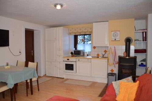 Kuchyň nebo kuchyňský kout v ubytování Alte Schmiede