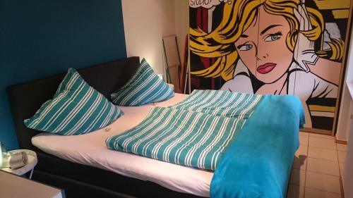 Een bed of bedden in een kamer bij Haus Winkelchen