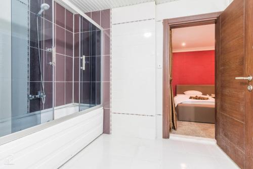 A bathroom at Hotel Dosco