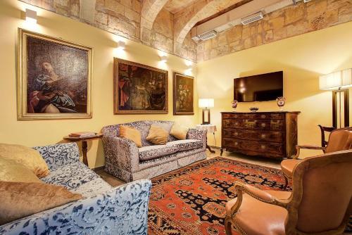 Coin salon dans l'établissement Palazzo Paolina Boutique Hotel