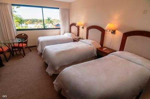 Cama o camas de una habitación en Arapey Thermal All Inclusive Resort & Spa