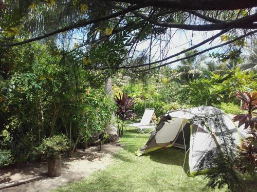 Um jardim em Aotea Camp'Inn Huahine