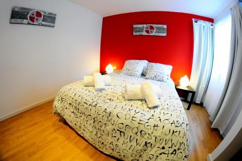 Cama o camas de una habitación en ValpoGo Apartments